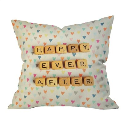 Happy Ever After Outdoor Throw Pillow Size: 18 H x 18 W x 4 D