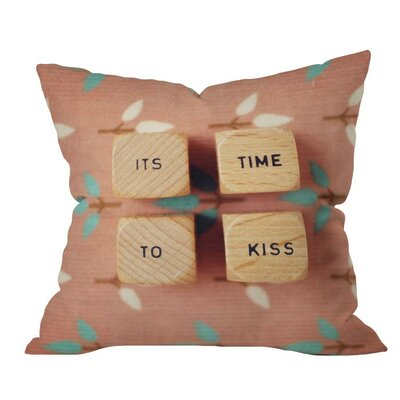 Its Time to Kiss Outdoor Throw Pillow Size: 20 H x 20 W x 4 D