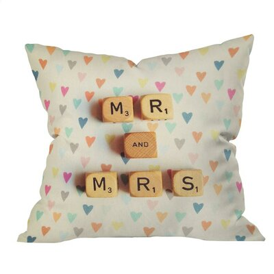 Mr and Mrs Outdoor Throw Pillow Size: 18 H x 18 W x 4 D
