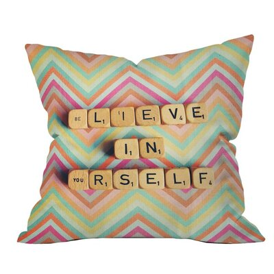 Believe in Yourself Outdoor Throw Pillow