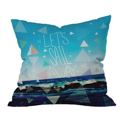 Lets Sail Away Outdoor Throw Pillow