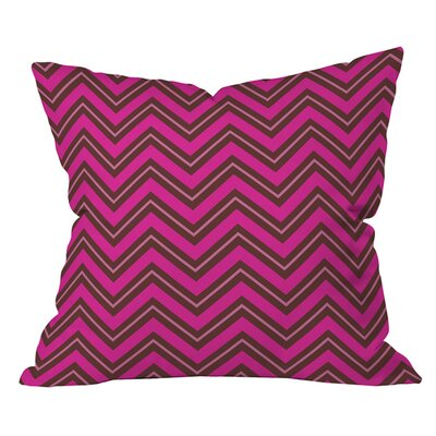 Caroline Okun Chevron Outdoor Throw Pillow Size: 18 H  x 18 W