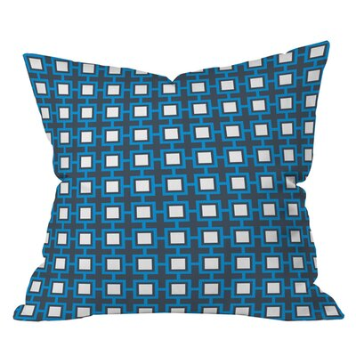 Caroline Okun Concentric Square Outdoor Throw Pillow Size: 18 H x 18 W