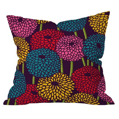 Budi Kwan Flower Field Outdoor Throw Pillow Size: 18 H x 18 W