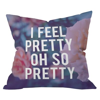Leah Flores So Pretty Outdoor Throw Pillow Size: 18 H x 18 W
