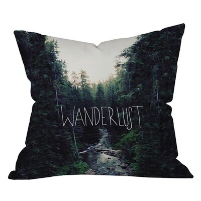 Leah Flores Wanderlust 1 Outdoor Throw Pillow Size: 18 H x 18 W