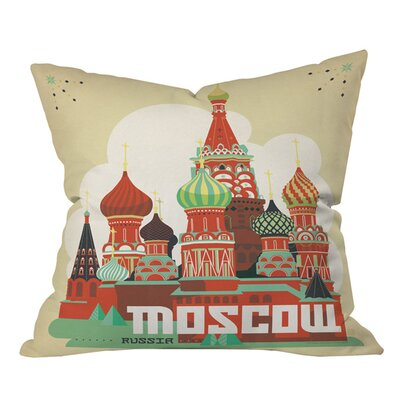 Anderson Design Group Moscow Outdoor Throw Pillow Size: 18 H x 18 W