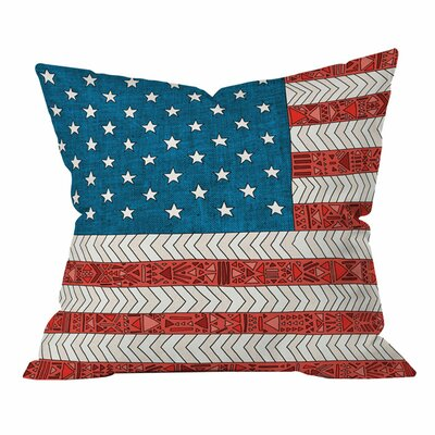 Bianca Green USA Outdoor Throw Pillow Size: 16 H x 16 W