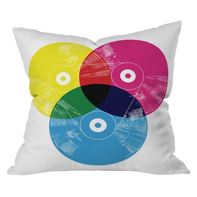 Budi Kwan CMYK Record Outdoor Throw Pillow Size: 18 H x 18 W