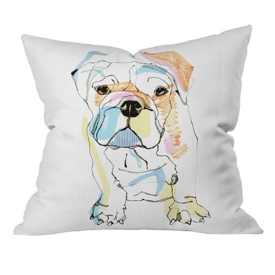 Bulldog Color Outdoor Throw Pillow Size: 18 H x 18 W
