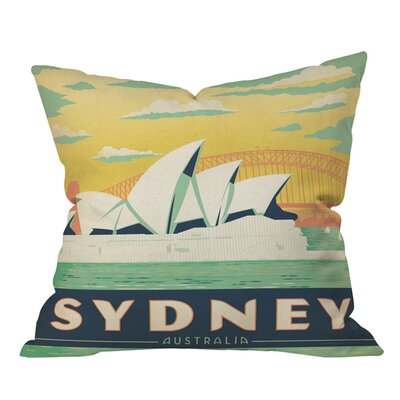 Anderson Design Group Sydney Outdoor Throw Pillow Size: 18 H x 18 W