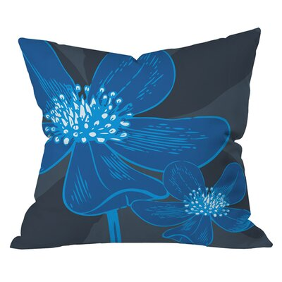Caroline Okun Vast Anemone Outdoor Throw Pillow Size: 18 H x 18 W