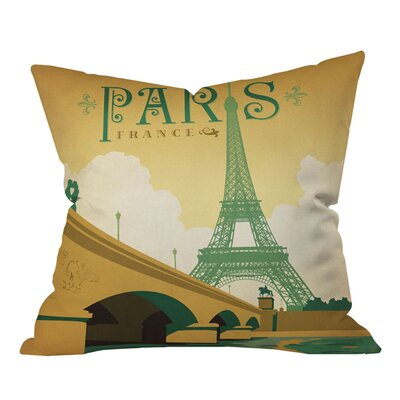 Anderson Design Group Paris Outdoor Throw Pillow Size: 18 H x 18 W