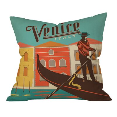 Anderson Design Group Venice Outdoor Throw Pillow Size: 18 H x 18 W