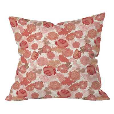 Sabine Reinhart Roses Outdoor Throw Pillow Size: 18 H x 18 W
