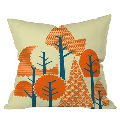 Budi Kwan Forest Outdoor Throw Pillow Size: 18 H x 18 W