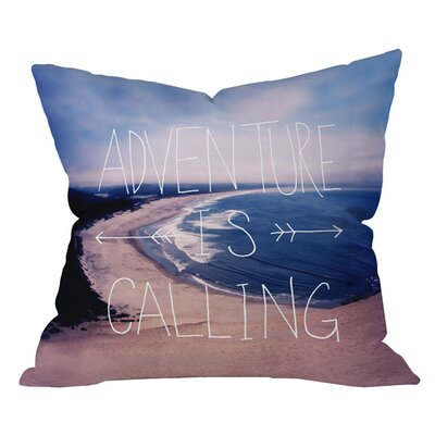 Leah Flores Adventure is Calling Outdoor Throw Pillow Size: 18 H x 18 W