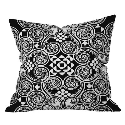 Budi Kwan Decographic Outdoor Throw Pillow Size: 18 H x 18 W, Color: Black