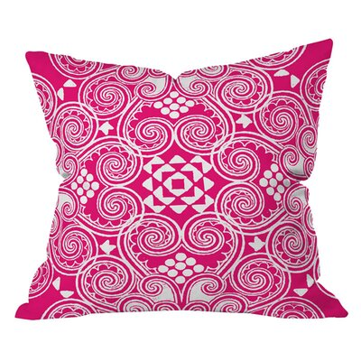 Budi Kwan Decographic Outdoor Throw Pillow Size: 26 H x 26 W, Color: Pink