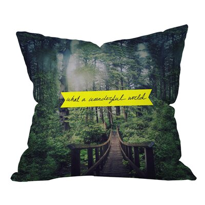 Leah Flores What a Wonderful World Outdoor Throw Pillow Size: 18 H x 18 W