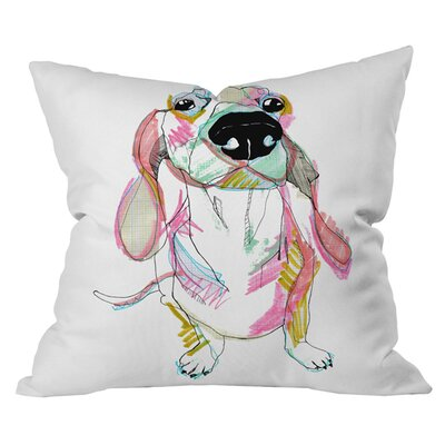 Sausage Dog Outdoor Throw Pillow Size: 18 H x 18 W