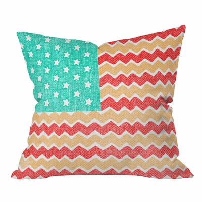 Nick Nelson Zig Zag Flag Outdoor Throw Pillow Size: 18 H x 18 W