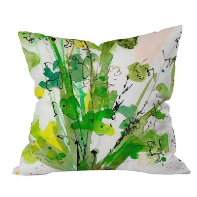 Ginette Fine Art Top of a Carrot Outdoor Throw Pillow Size: Small