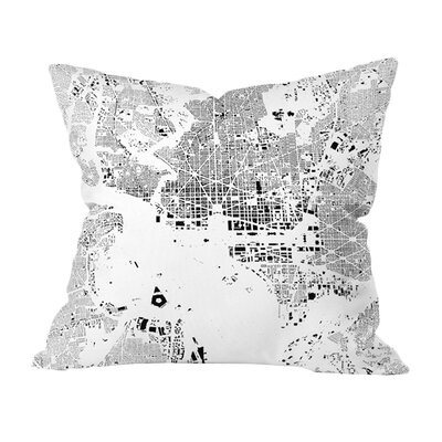 CityFabric Inc. DC Outdoor Throw Pillow Size: 18 H x 18 W
