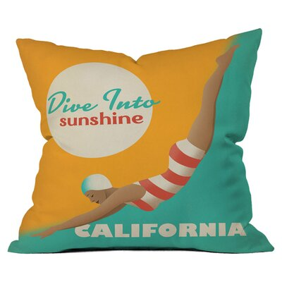 Anderson Design Group Dive California Throw Pillow Size: 16 x 16