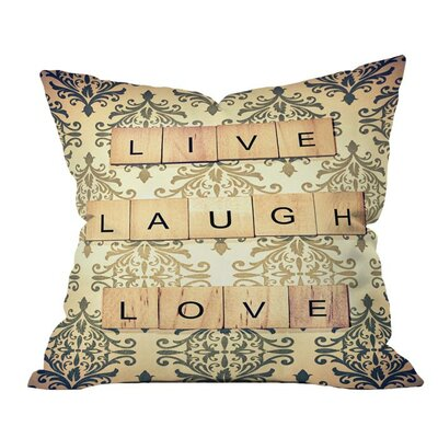 Shannon Clark Live Laugh Love Outdoor Throw Pillow