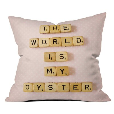 Happee Monkee the World is My Oyster Outdoor Throw Pillow