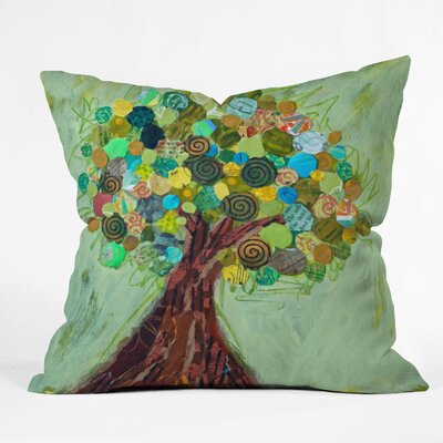 Elizabeth St Hilaire Nelson Spring Tree Throw Pillow Size: Extra Large