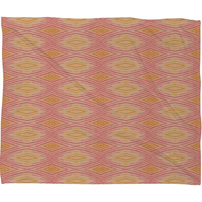Cori Dantini Orange Ikat 4 Throw Blanket Size: 80