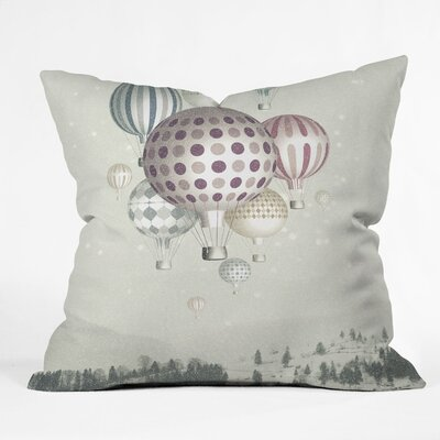 Belle13 Winter Dreamflight Throw Pillow Size: Large