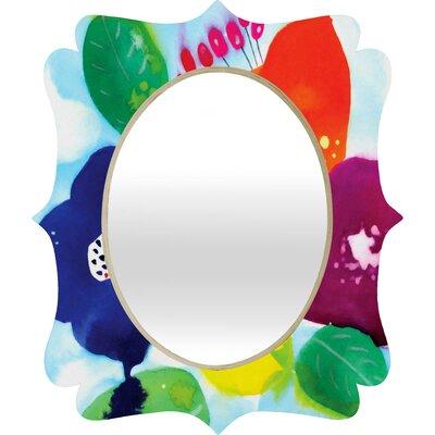 CayenaBlanca Big Flowers Quatrefoil Mirror 15456-mirqsm