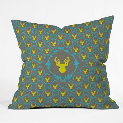 Bianca Green Oh Deer 3 Throw Pillow Size: Large