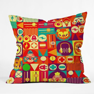 Chobopop Elecro Circus Throw Pillow Size: Small