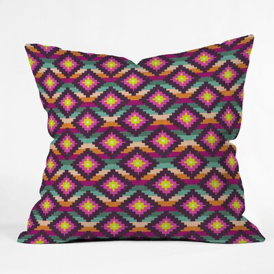 Bianca Green Aztec Diamonds Hammock Throw Pillow Size: Small