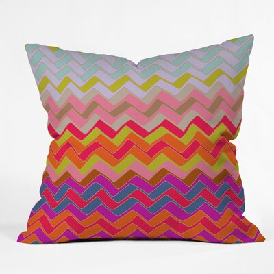 Sharon Turner Geo Chevron Throw Pillow Size: Large