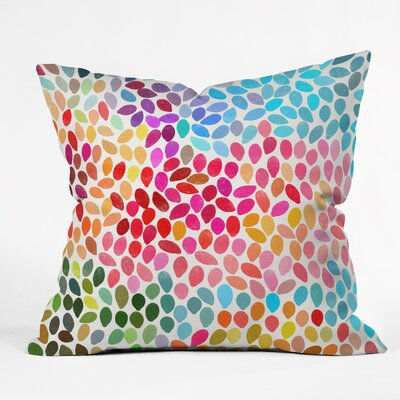Rain 6 Throw Pillow Size: 18 x 18