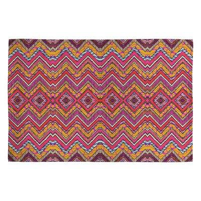 Ingrid Padilla Peachy Pink/Gold Whim Area Rug Rug Size: 2 x 3