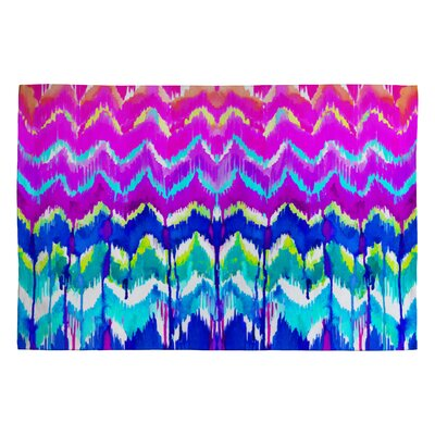 Holly Sharpe Summer Dreaming Pink Chevron Area Rug Rug Size: 2 x 3