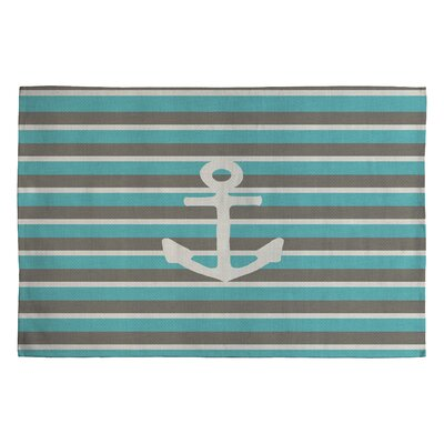 Bianca Green Anchor 1 Novelty Area Rug Rug Size: 2' x 3'