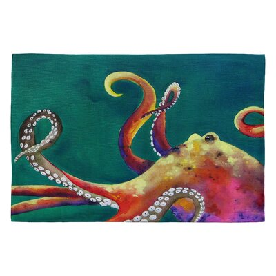 Clara Nilles Mardi Gras Octopus Area Rug Rug Size: 2 x 3