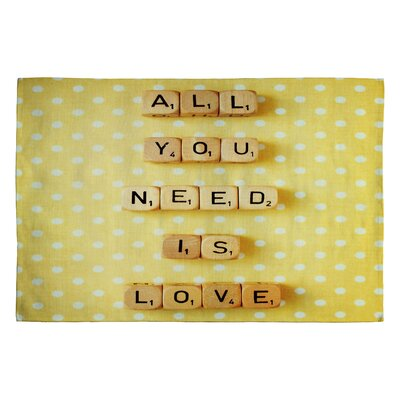 Happee Monkee All You Need Is Love 1 Novelty Rug Rug Size: 2 x 3