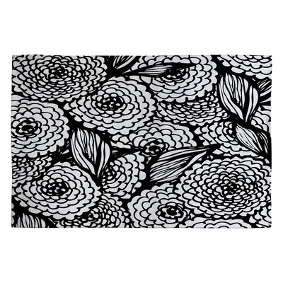 Julia Da Rocha Bouquet of Flowers Love Area Rug Rug Size: 2' x 3'