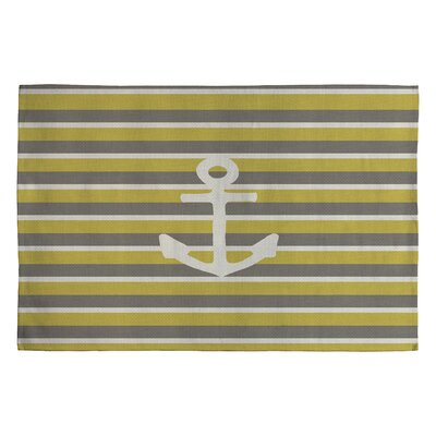 Bianca Green Anchor 2 Novelty Area Rug Rug Size: 2 x 3