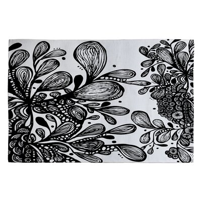 Julia Da Rocha Wild Leaves Area Rug Rug Size: 2 x 3