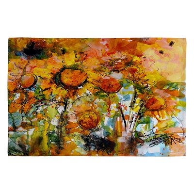 Abstract Sunflowers Novelty Rug Rug Size: 2 x 3