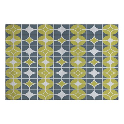 Heather Dutton Othello Gold/Yellow Geometric Area Rug Rug Size: 2 x 3